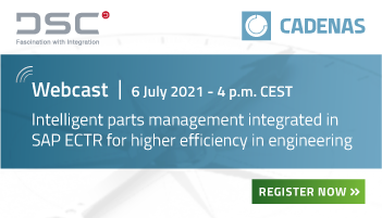 Webcast | Intelligent parts management integrated in SAP ECTR – more efficiency in engineering